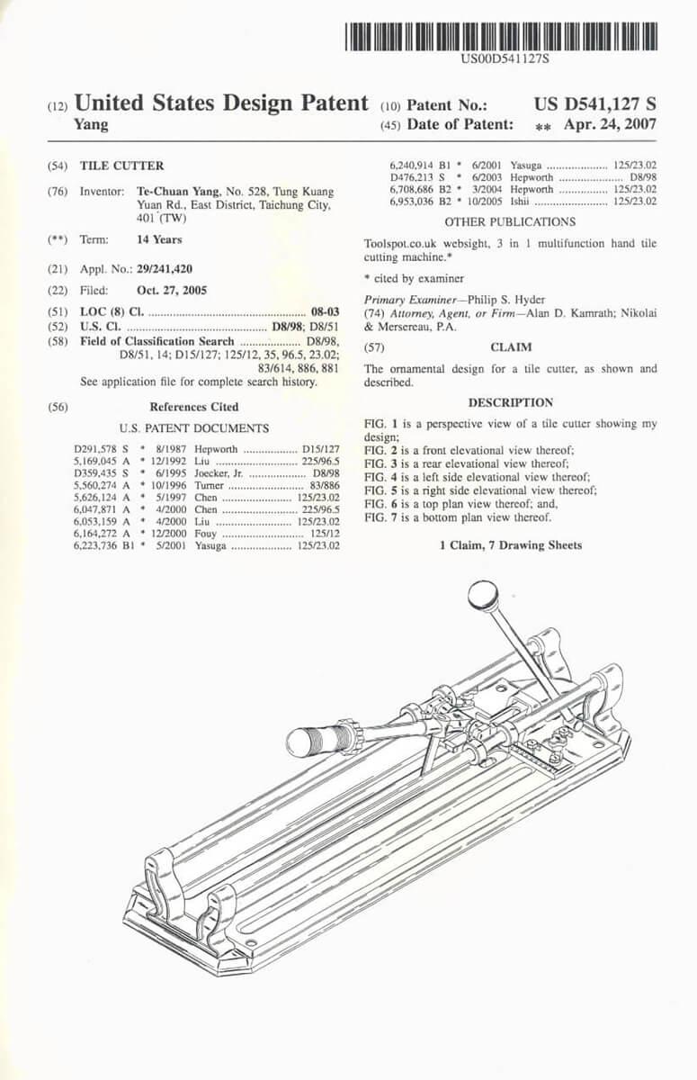 proimages/index/美國設計切割器專利_US_Design_TILE_CUTTER_Patent2.jpg